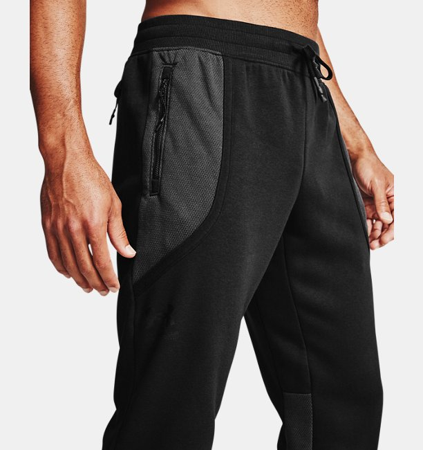 Mens UA Rival Fleece AMP Pants